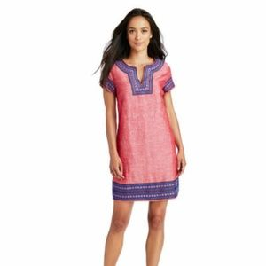 Vineyard Vines Embellished Tunic Dress Linen Blend